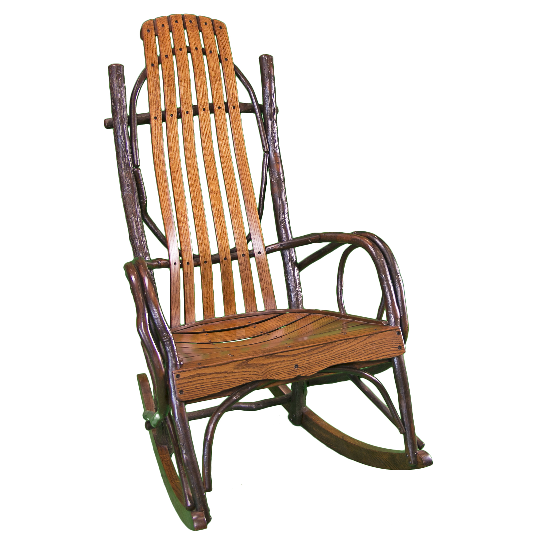 wooden rocking chair timber lodge furniture