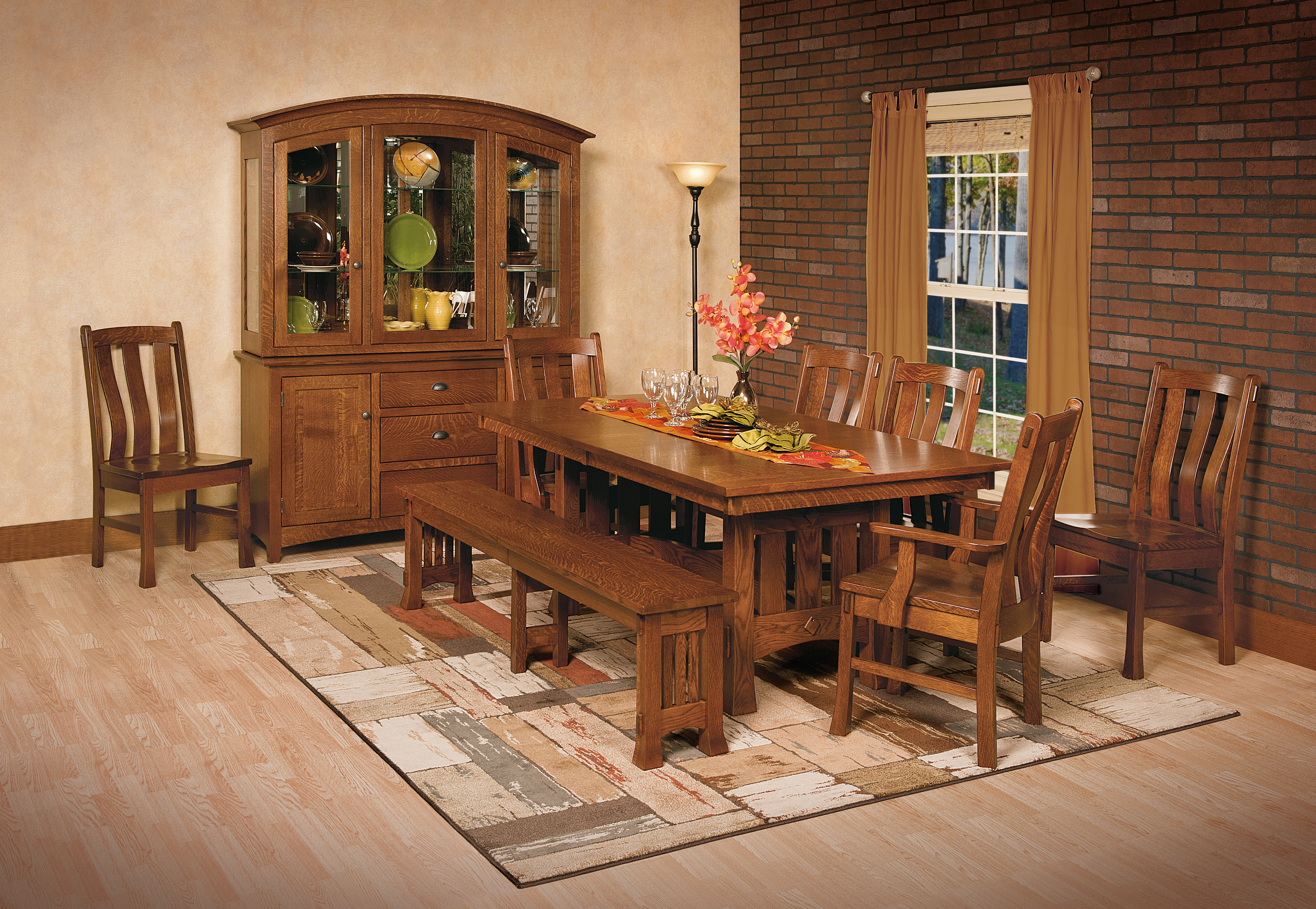 Old Century Mission Dining Room Set – Timber Lodge Furniture